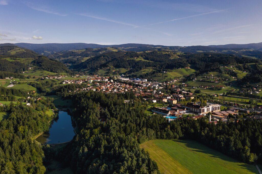 Panorama mesta Zreče - FOTO: Miha Matavž Photo&Video, Turistična destinacija Rogla-Pohorje