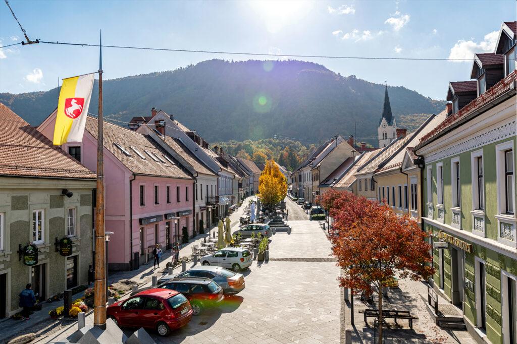 Staro mestno jedro Slovenske Konjice z zraka - FOTO: Miha Matavž Photo&Video, Turistična destinacija Rogla-Pohorje